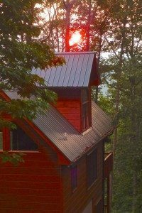 Cabin-sunset