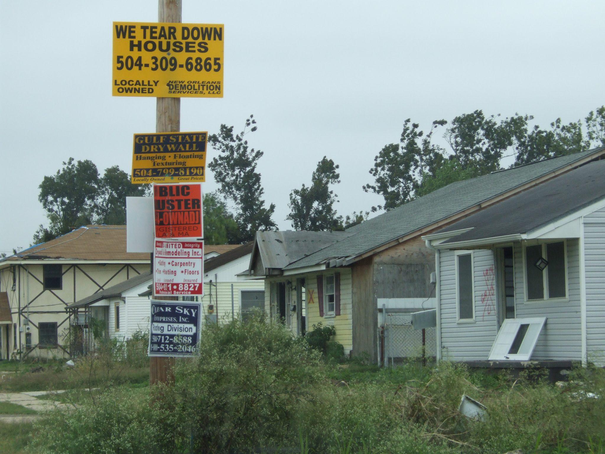 New Orleans Katrina damage