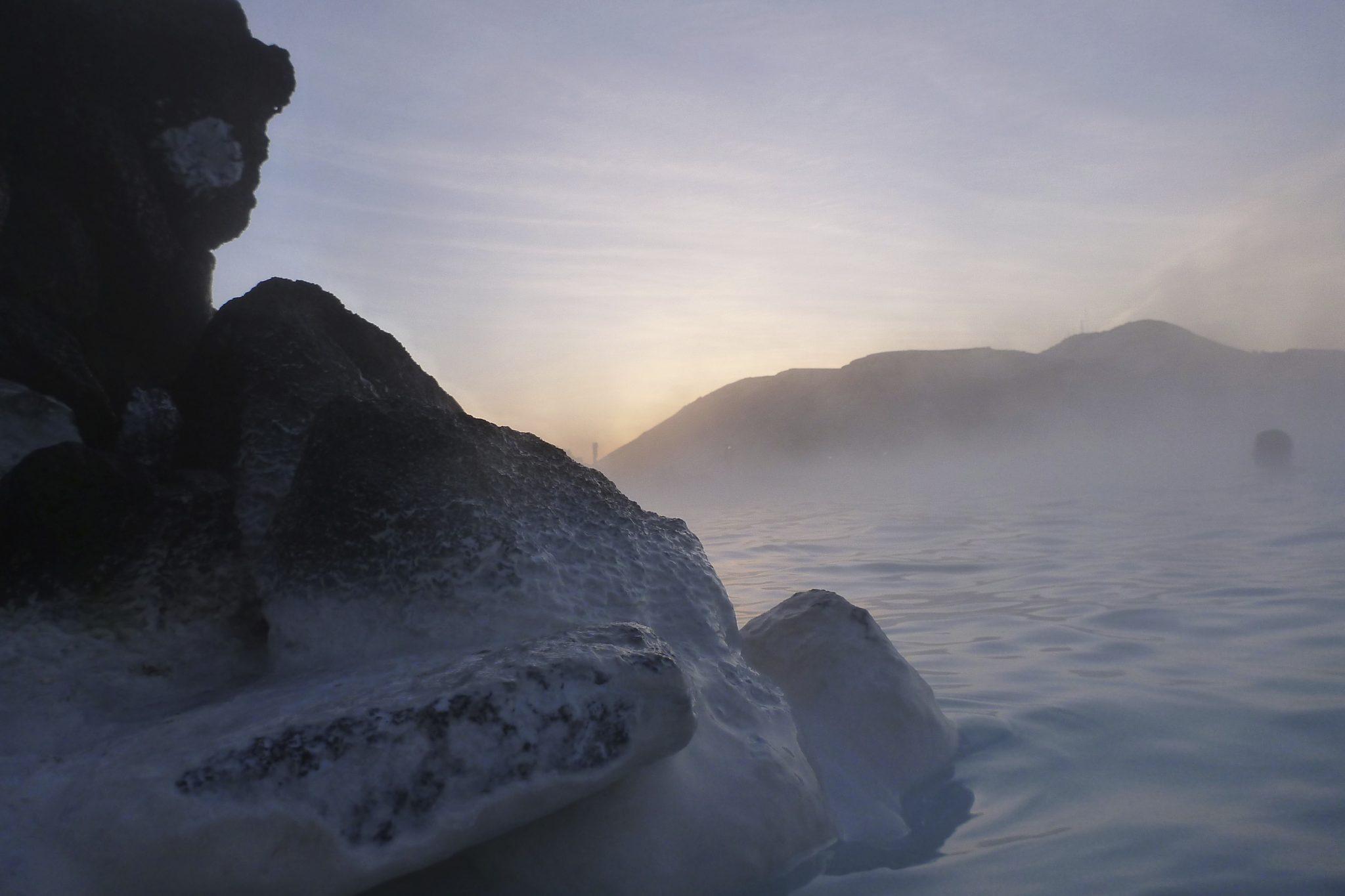 blue lagoon sunrise