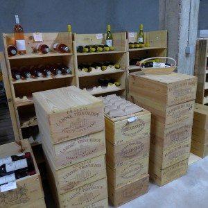 wine bins La Cave St. Barts