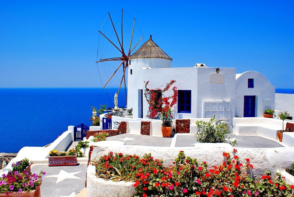 Santorini, one of the Greek isles. Photo: Shutterstock/Yiannis Papadimitriou