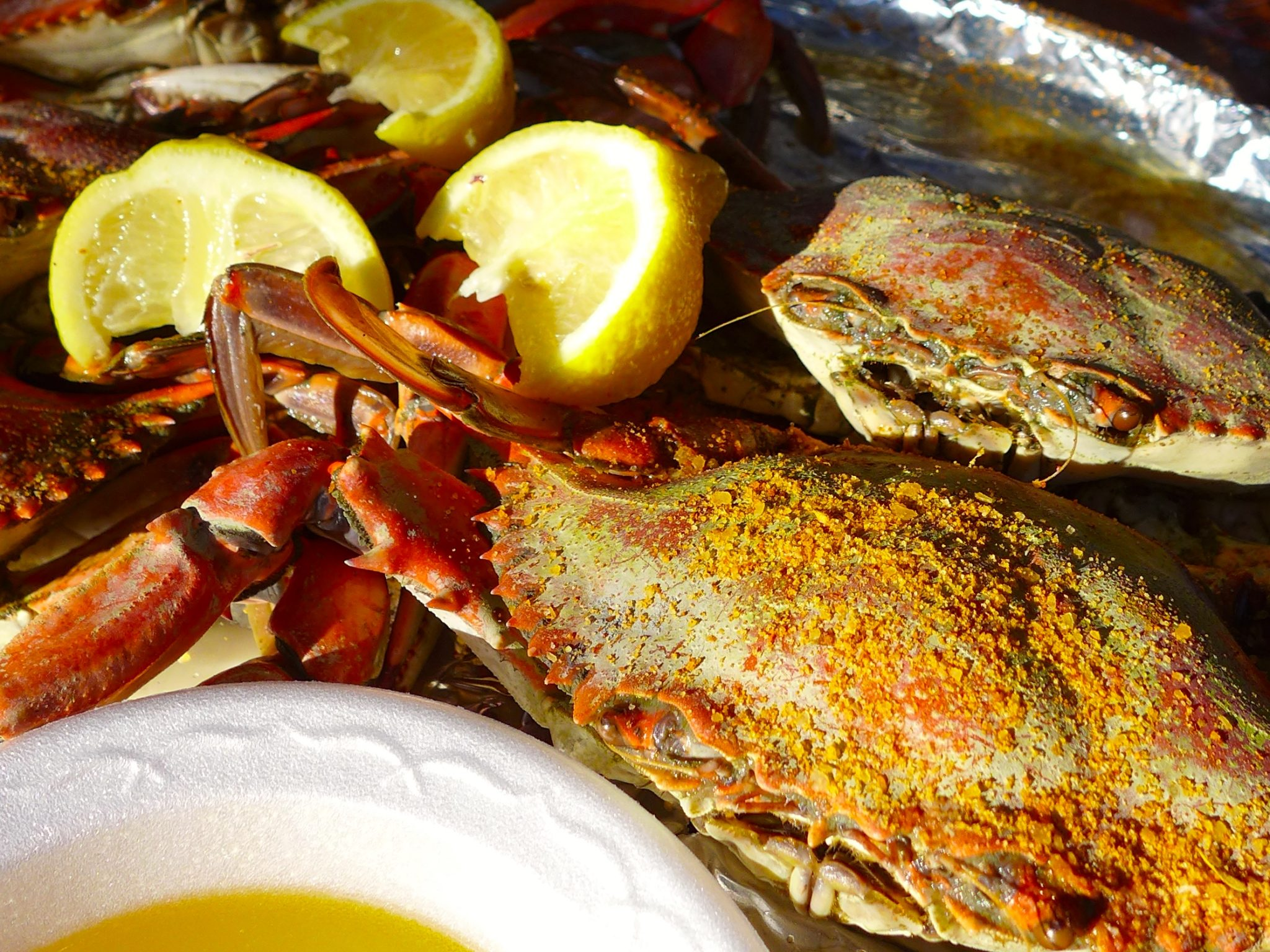 Blue crabs at the Crab Shack Tybee
