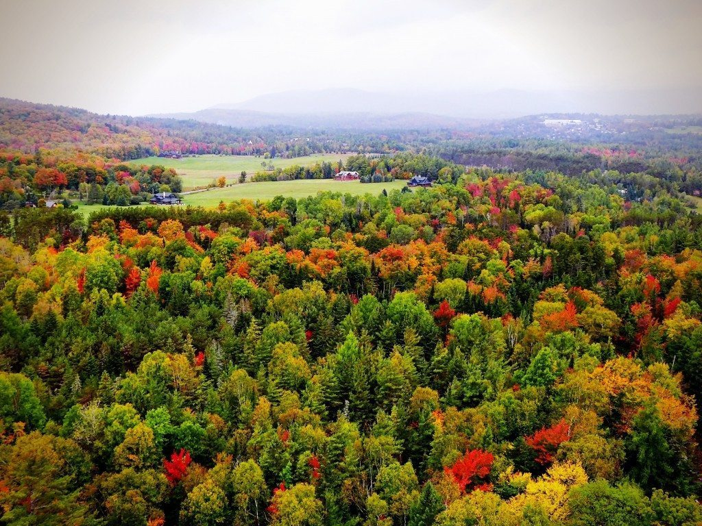 Autumn view of Lake Placid NY, one of the best places to see the leaves change.