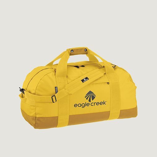 An excellent suitcase packing tip is to carry a light bag, like an Eagle Creek medium canary yellow duffel bag .