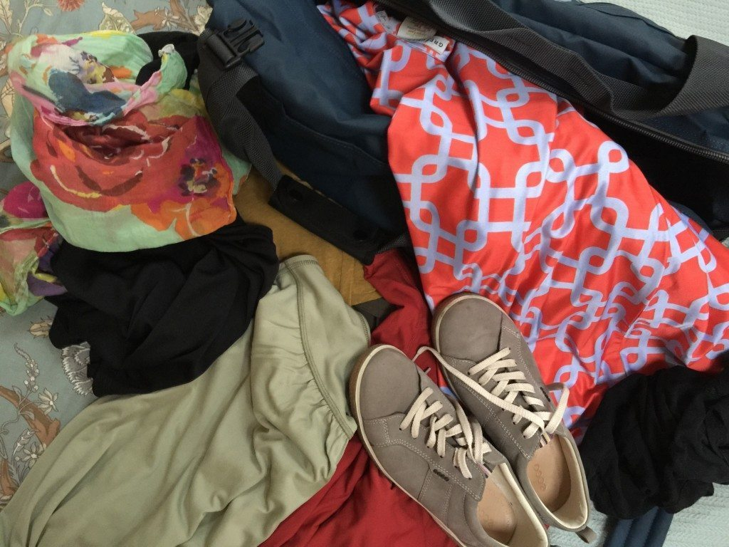 Lay out your clothes and purge is a great suitcase packing tip