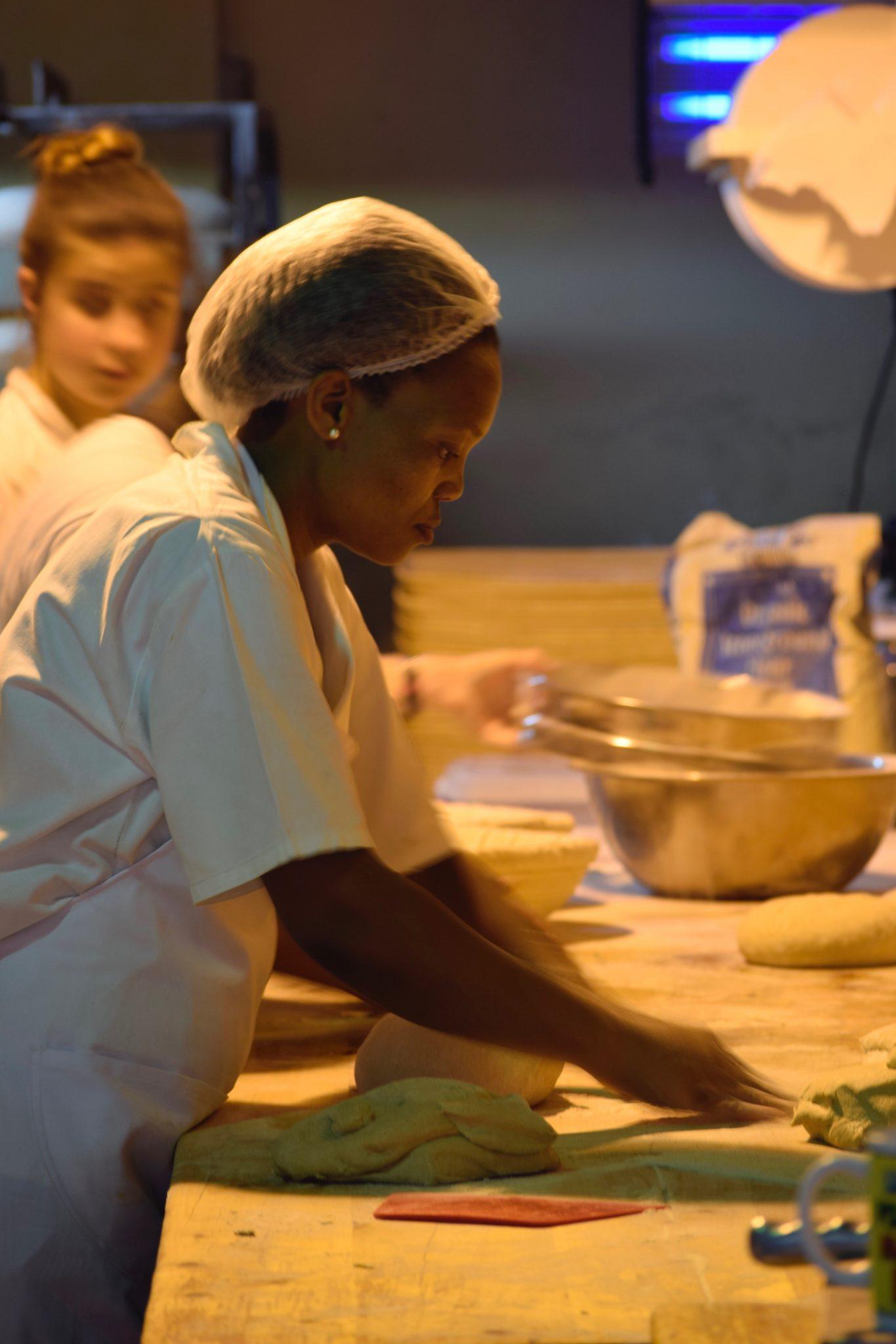Stellenbosch-bakery-woman-kneading