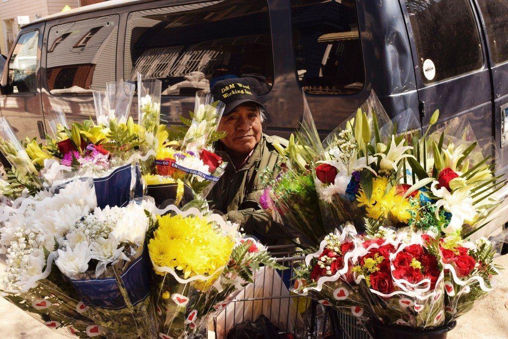 man-van-flowers