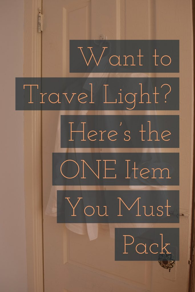 You know you want to. Pack light, that is. What's the secret?