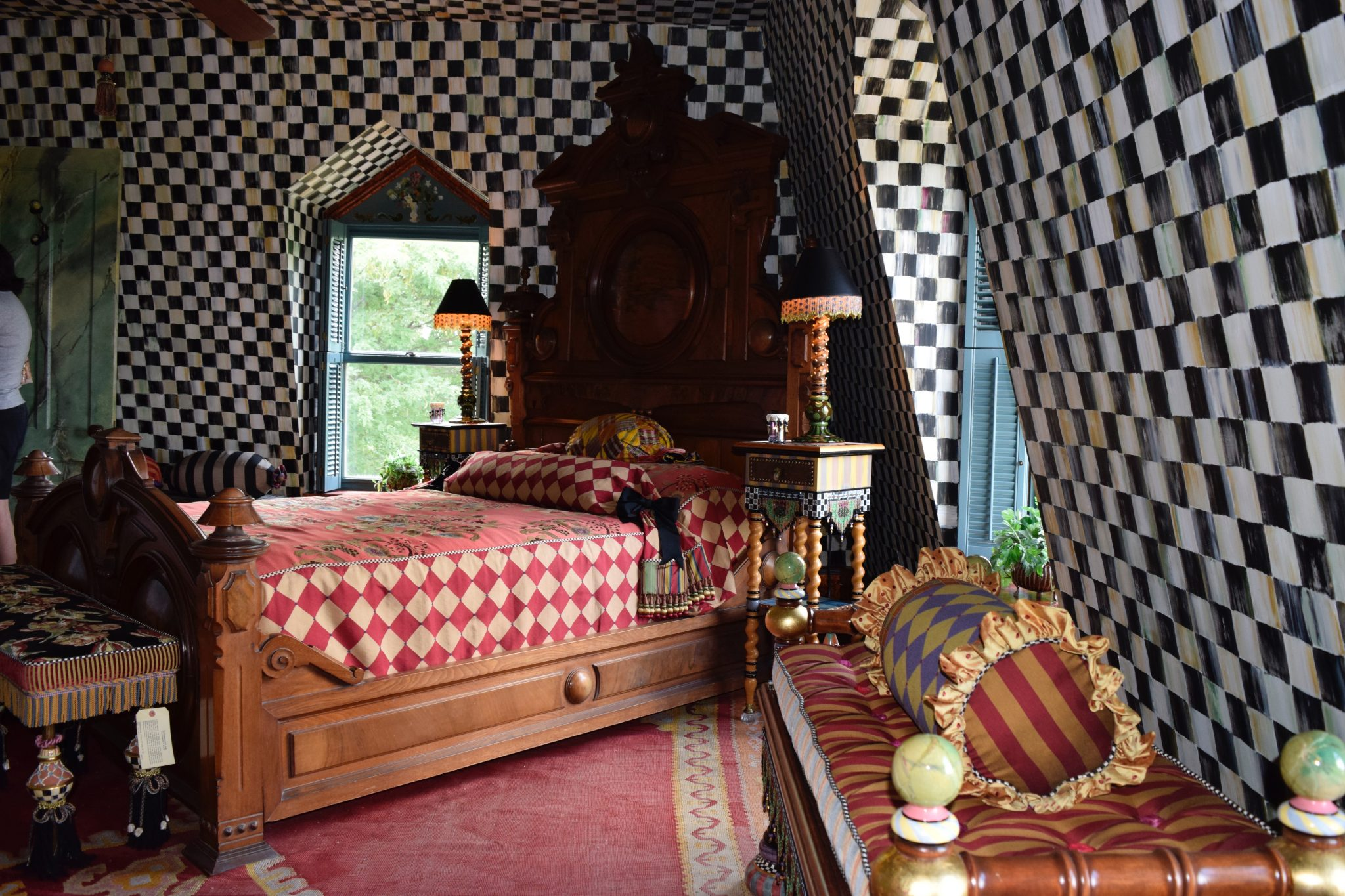 Bedroom Featuring Mackenzie Childs Courtly Check