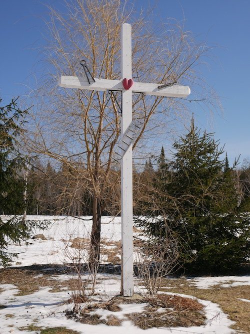 wayside cross outside of Spa Eastman