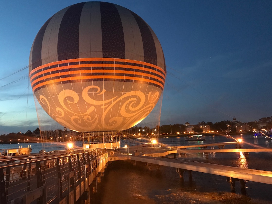 What to see at Disney Springs include a hot air balloon for tethered rides.